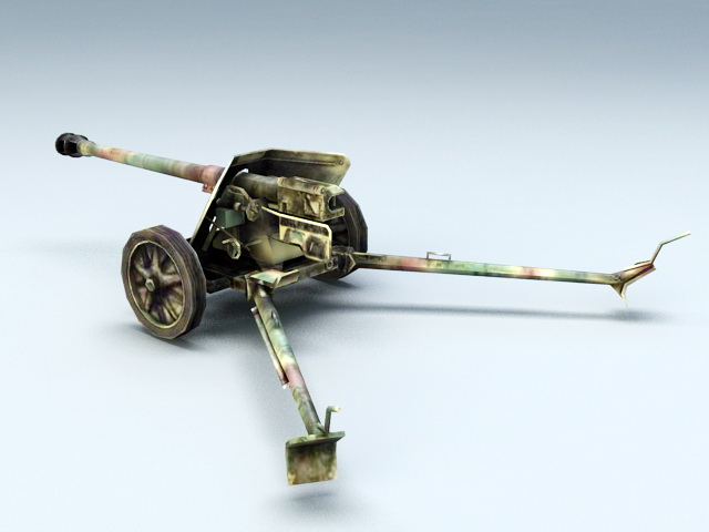 German 50 Mm Anti Tank Gun: German Anti-Tank Gun 3d Model 3ds Max Files Free Download