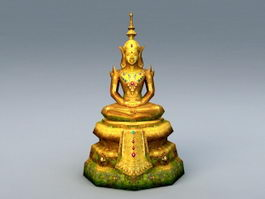 Ancient Thai Buddha Statue 3d model