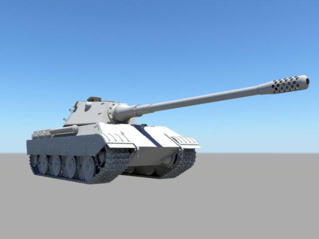 WW2 Heavy Tank 3d model rendered image