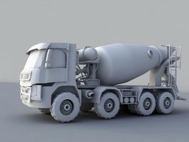 Concrete Mixer Truck 3d model