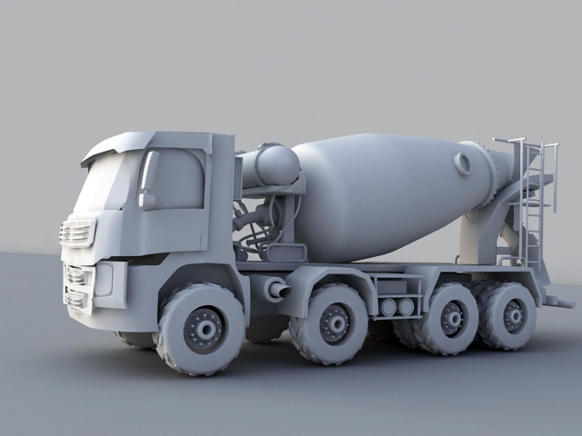 Concrete Mixer Truck 3d model rendered image
