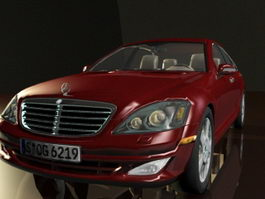 Red Mercedes-Benz Car 3d model