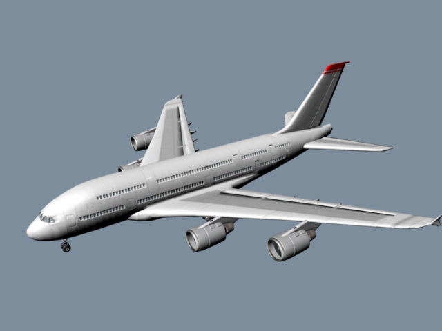 Airbus A380 3d model rendered image