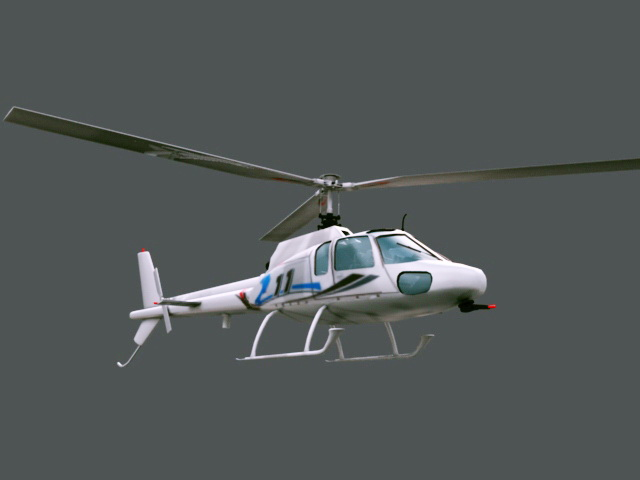 Private Helicopter 3d model rendered image