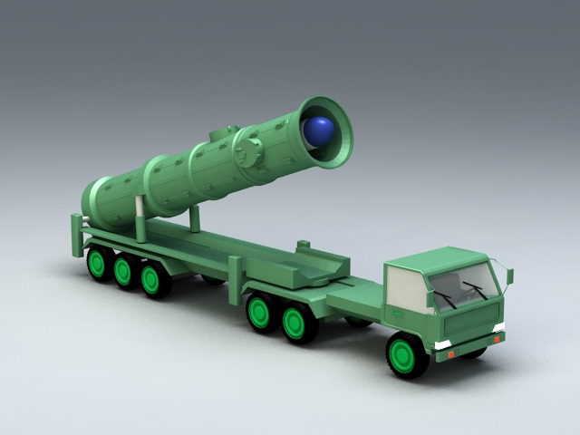 Scud Missile Launcher 3d model rendered image