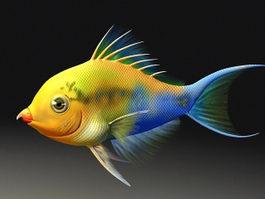 Cartoon Fish Animation 3d model