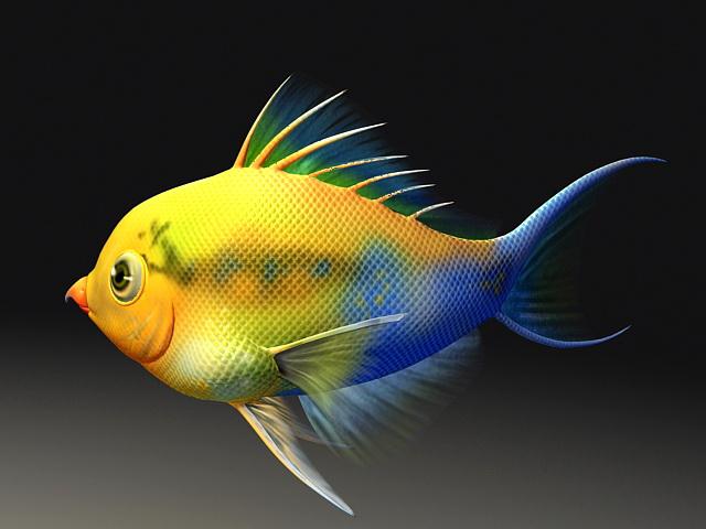 Cartoon Fish Animation 3d model rendered image