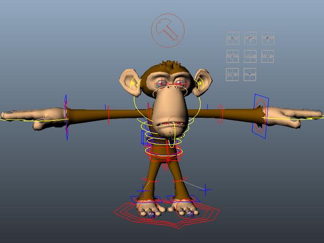 Monkey Rig 3d model rendered image
