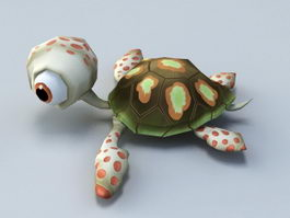 Animated Baby Tortoise Cartoon 3d model