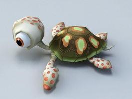 Animated Baby Tortoise Cartoon 3d model