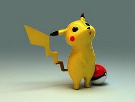 Cute Pikachu 3d model