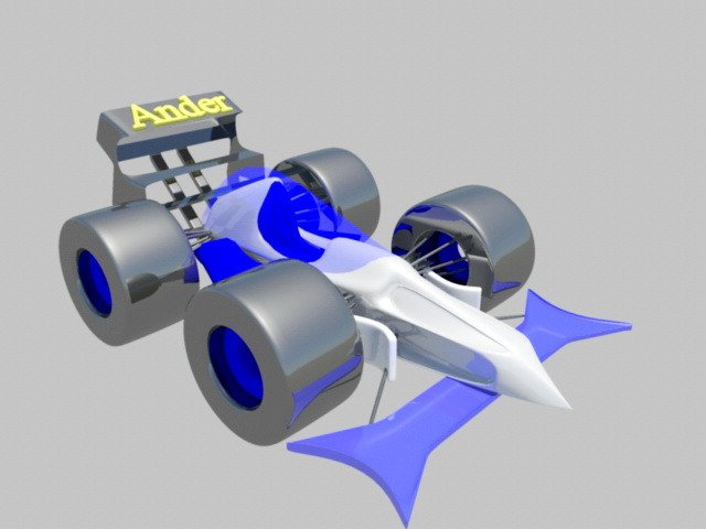 Formula 1 Car 3d model rendered image
