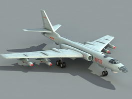Chinese Xian H-6 Bomber 3d model