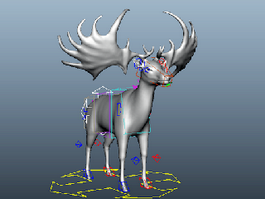 Irish Elk Rig 3d model