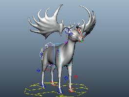 Irish Elk Rig 3d model