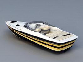 Luxury Speedboat 3d preview