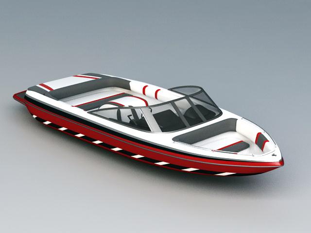 Sport Fishing Boat 3d model rendered image