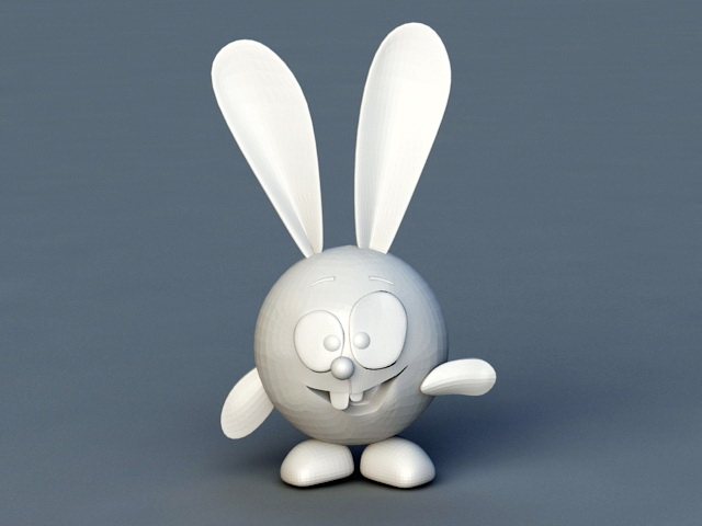 Funny Rabbit Cartoon 3d model rendered image