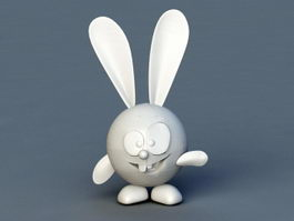 Funny Rabbit Cartoon 3d model