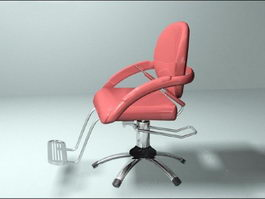 Red Barber Chair 3d model