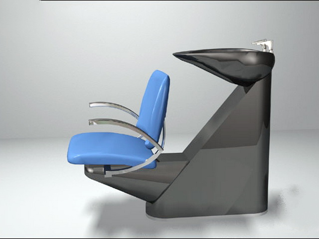 Salon Shampoo Bowl And Chair 3d Model 3ds Max Files Free