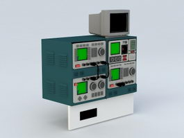 Oscilloscope Electronic Equipment 3d model