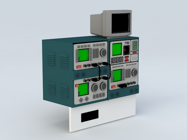 Oscilloscope Electronic Equipment 3d model rendered image