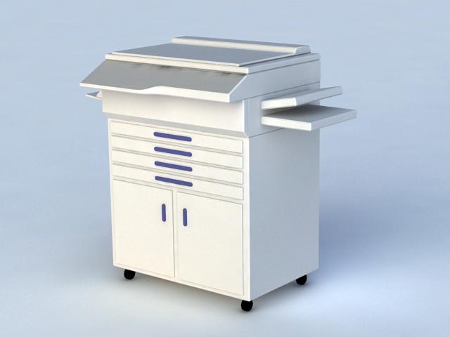 Photocopier Machine 3d model rendered image