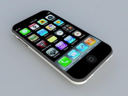 iPhone 3GS Smartphone 3d model