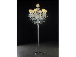 Floor Standing Crystal Chandelier 3d model
