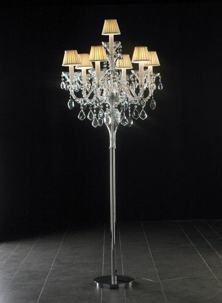 Floor Standing Crystal Chandelier 3d model rendered image