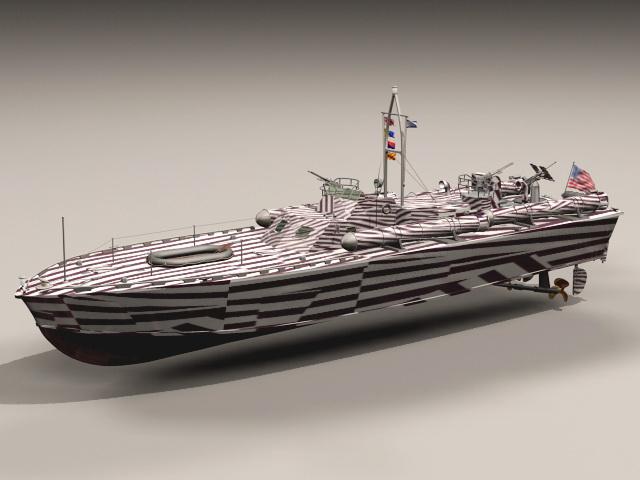 Motor Torpedo Boat PT-109 3d model rendered image