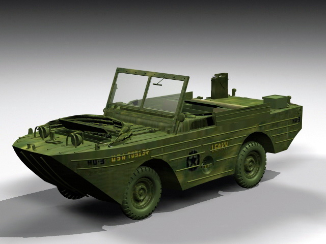 Ford GPA Amphibious Jeep 3d model rendered image