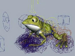Small Frog Rig 3d model