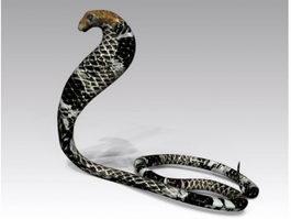 Black Cobra Snake 3d model