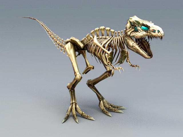 Skeletal T-Rex 3d model rendered image