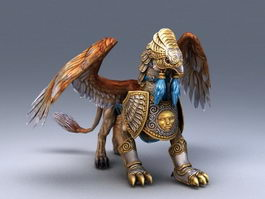 Armored Griffin Creature 3d model