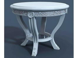 Victorian Tea Table 3d model