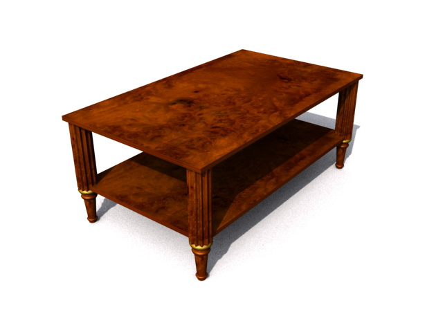 Antique Coffee Table 3d model rendered image