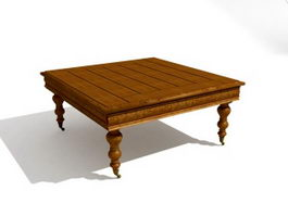 Large Square Coffee Table 3d model