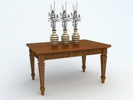 Antique Tables 3d Model Free Download Cadnav Com