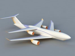Modern Biplane 3d model