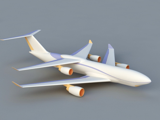 Modern Biplane 3d model rendered image