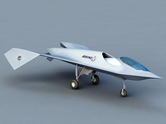 Boeing Bird of Prey 3d model rendered image