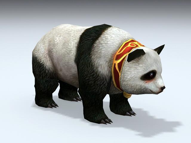 Giant Panda 3d model rendered image