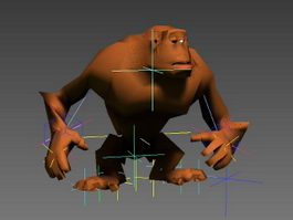 Animated Orangutan Rig 3d model