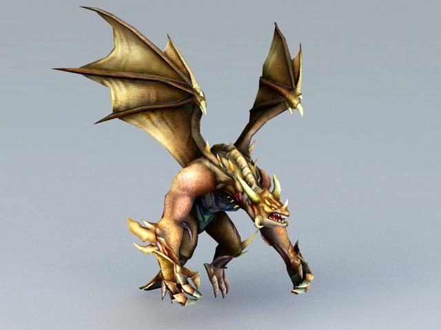 Dragon Protector 3d model rendered image
