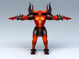 Demon Bull Warrior 3d model