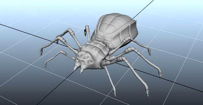 Scary Spider Monster 3d model rendered image