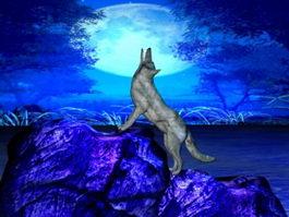 Wolf Moon 3d model